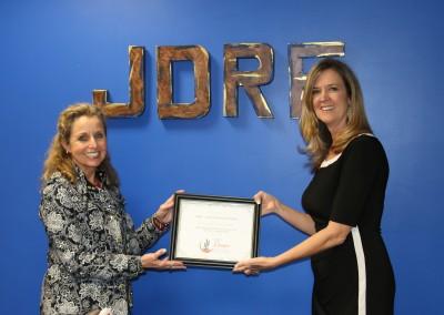 JDRF Check Presentation