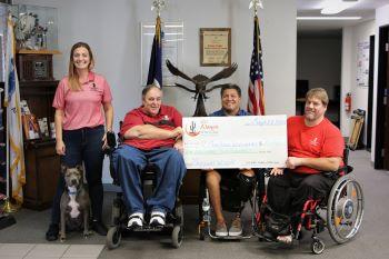 Paralyzed Veterans of America Arizona Chapter Check Presentation